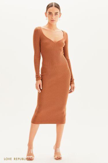 Платье-лапша с длинным рукавом 1359330504