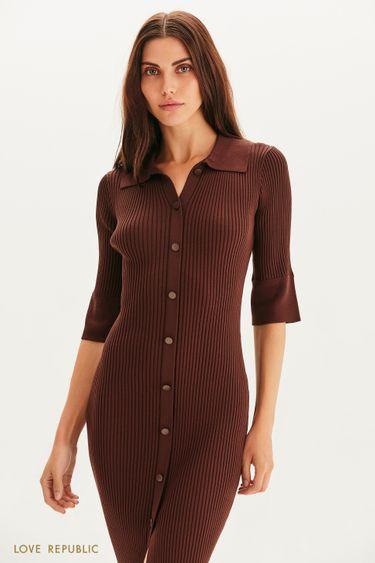 Платье-рубашка из трикотажа 1359331505
