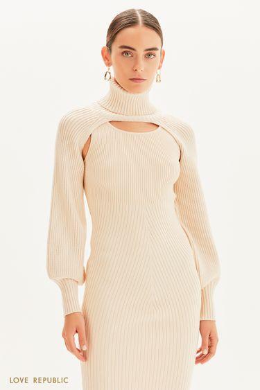 Кроп-свитер с горлом 1359337826