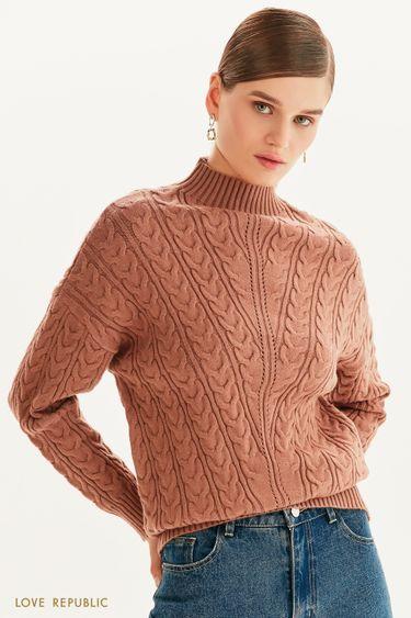 Вязаный свитер с горлом 1359350836
