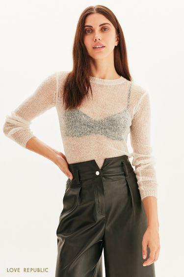 Полупрозрачный свитер-паутинка 1359357838