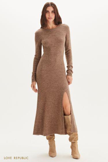 Платье макси из смесовой шерсти 1359360530