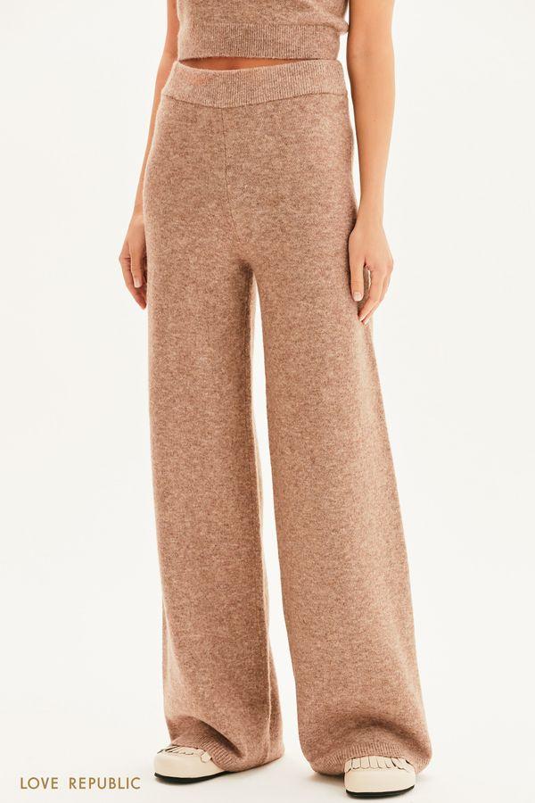 Трикотажные брюки на резинке 1359303703-87