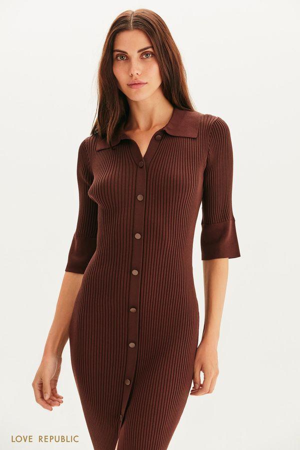 Платье-рубашка из трикотажа 1359331505-22