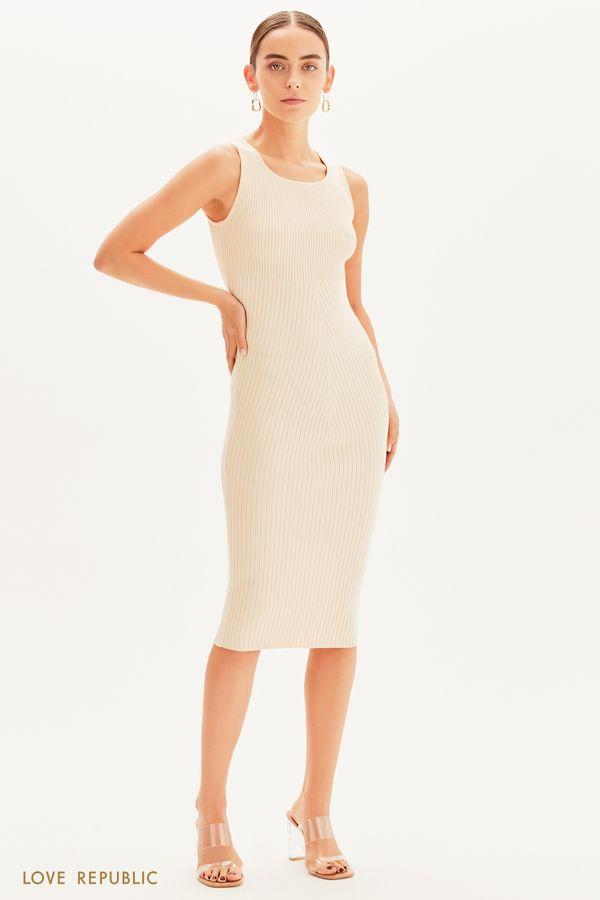 Трикотажное платье-лапша 1359337507-50