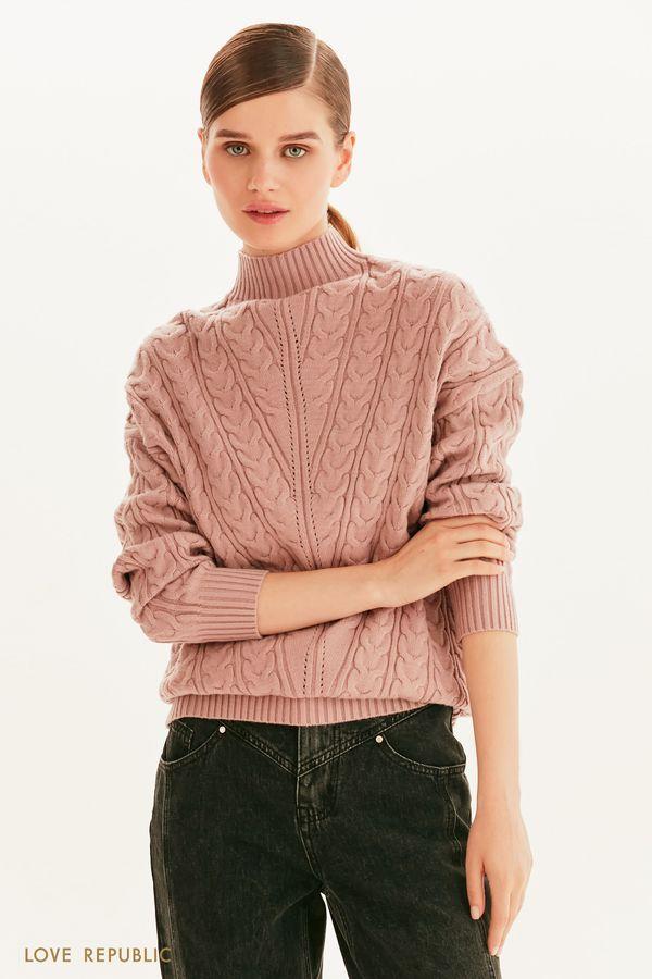 Вязаный свитер с горлом 1359350836-66