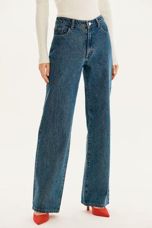 Базовые джинсы-трубы