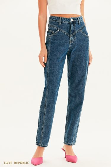 Базовые джинсы с вытачками 1359404706