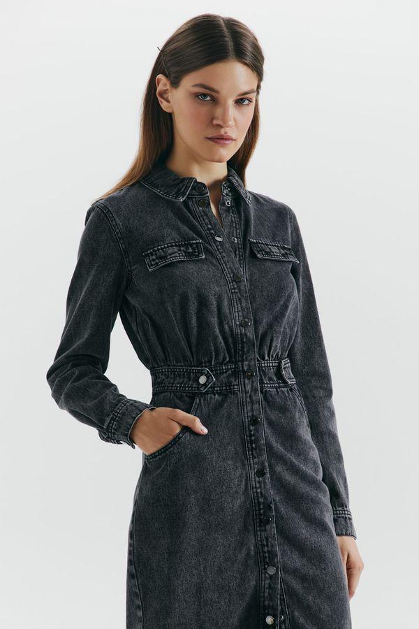 Платье-рубашка из денима 1359410509-50