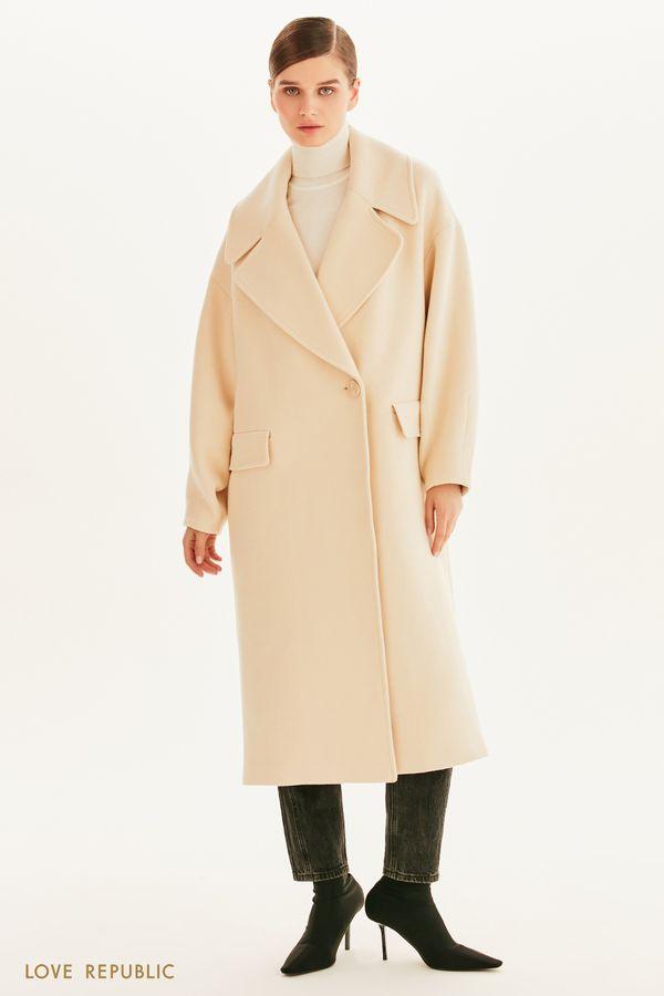 Oversize пальто из смесовой шерсти 1359514121-61