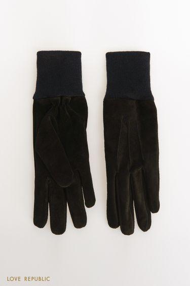Перчатки из натуральной замши 144017012