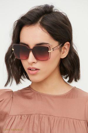 Крупные солнцезащитные очки в прозрачной оправе