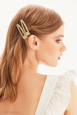 Заколки для волос из фактурного металла