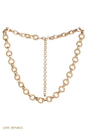 Массивное ожерелье-цепь