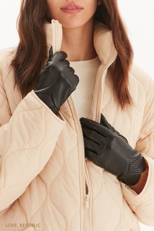 Перчатки из гладкой натуральной кожи 144917006-50