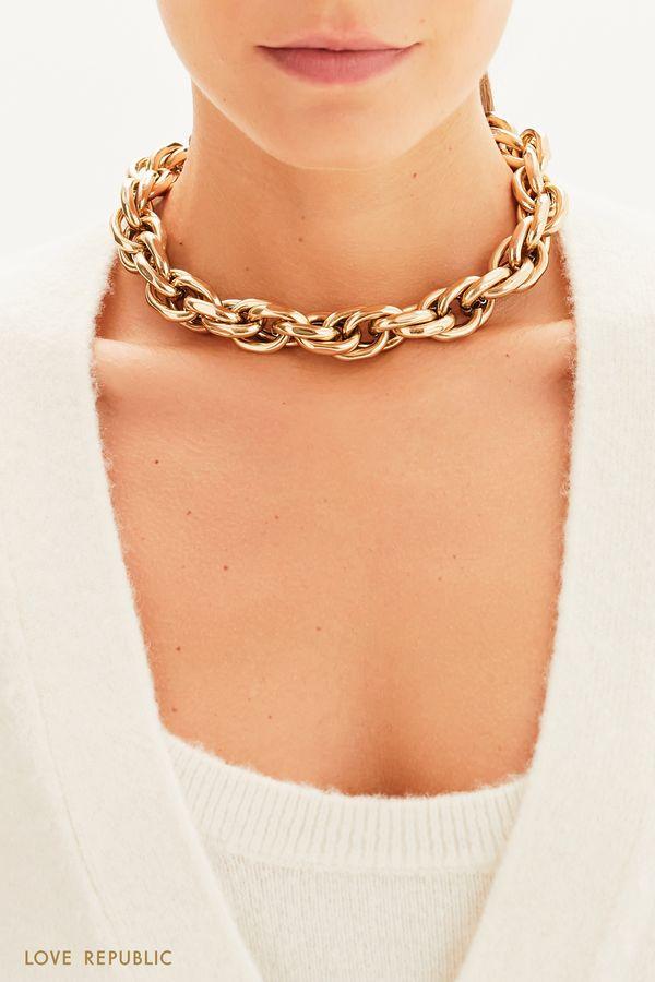 Массивное ожерелье-цепь 144945127-6