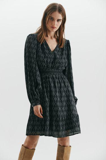 Шифоновое платье с подплечниками 1450001505