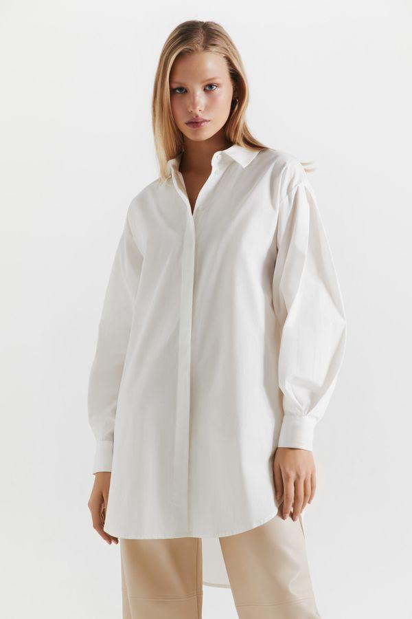 Oversize рубашка из хлопка 1450004305-1