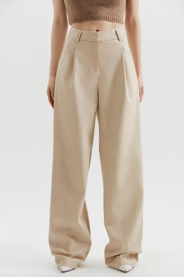 Широкие брюки из экокожи 1450206712