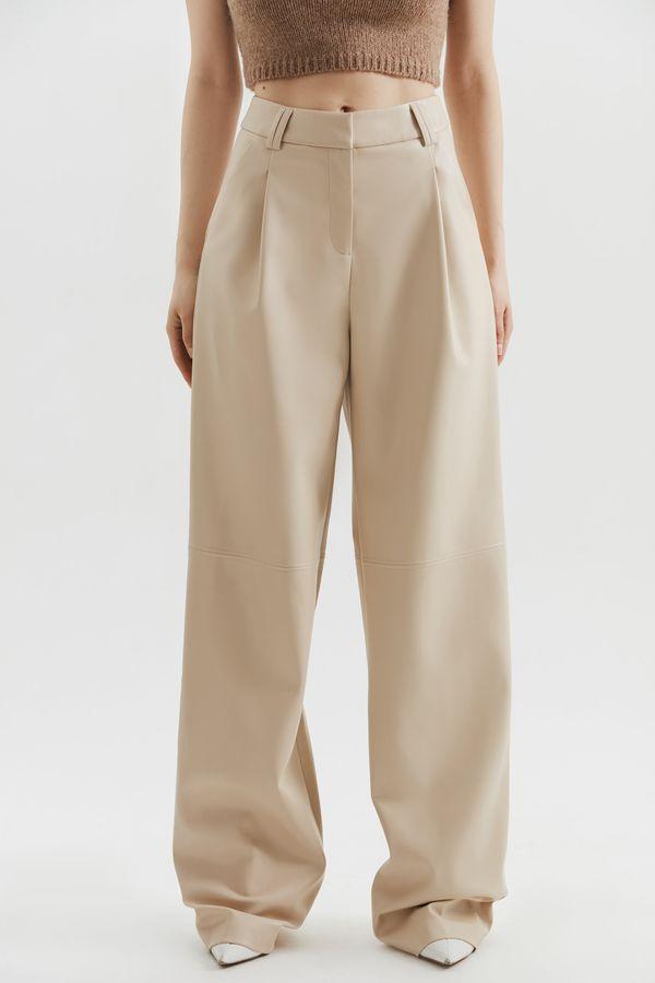 Широкие брюки из экокожи 1450206712-50