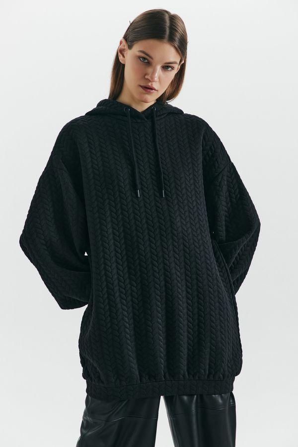 Oversize платье-худи с узором 1450211515-66