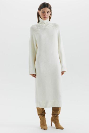 Трикотажное платье-свитер 1450361523