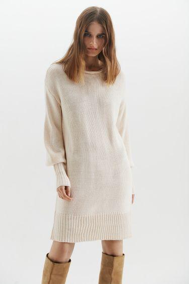 Трикотажное платье с круглым вырезом 1450362524