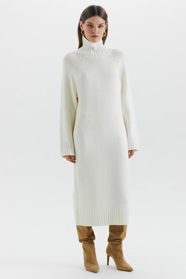 Трикотажное платье-свитер 1450361523-60