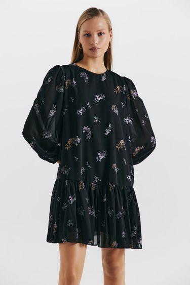 Шифоновое платье с флористичным принтом 1451033553