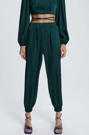 Атласные брюки джоггеры 1452001710