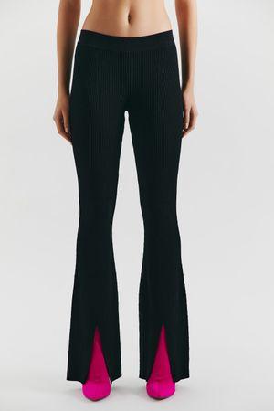 Трикотажные брюки с разрезами