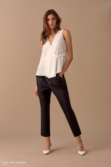 Свободная блузка без рукавов 9358005345