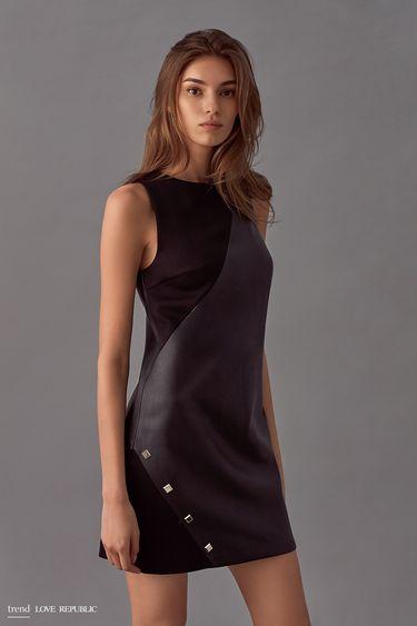 Мини-платье без рукавов  9358063543