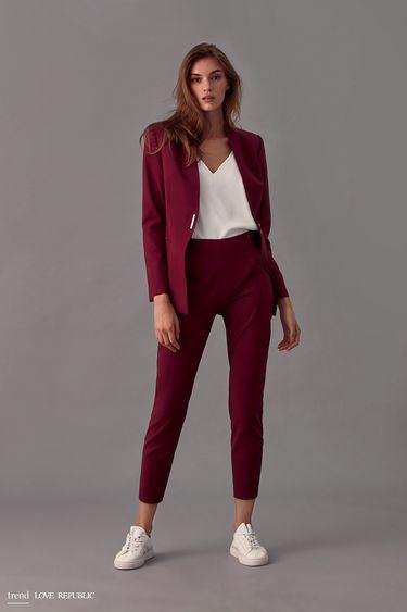 Укороченные брюки из хлопковой ткани 9358064727