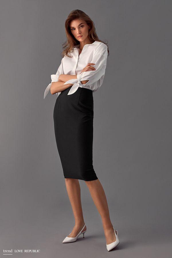 Объёмная блузка с завязками на рукавах 9358021301-1