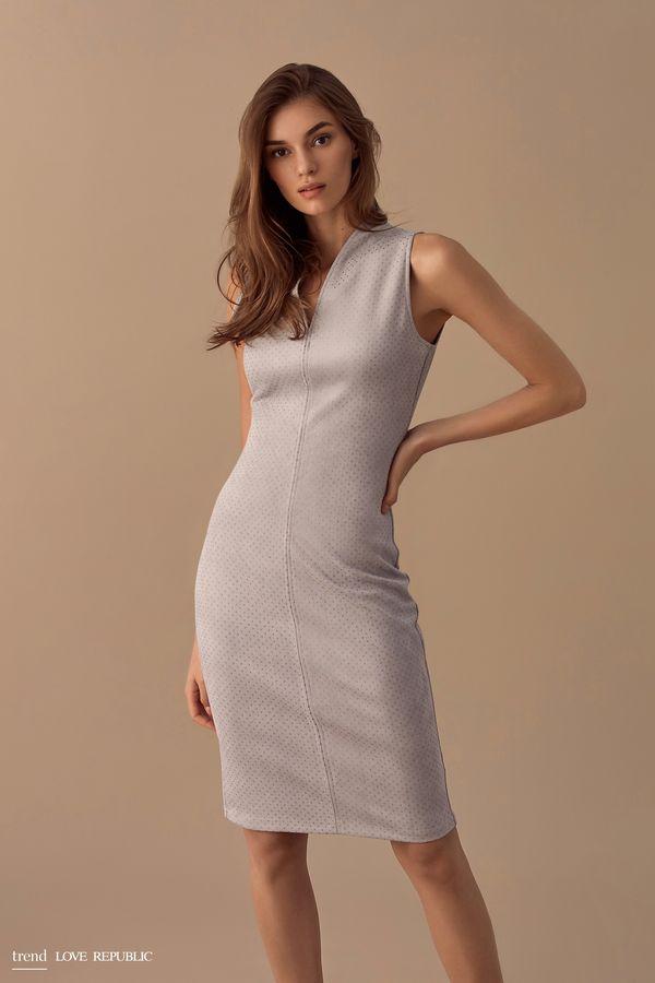 Платье-футляр из тонкой искусственной замши 9358062521-30