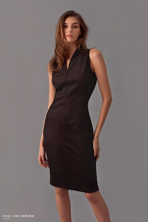 Платье-футляр из тонкой искусственной замши 9358062521-71