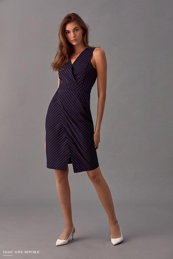 Платье-футляр кроя с запахом 9358083529-47