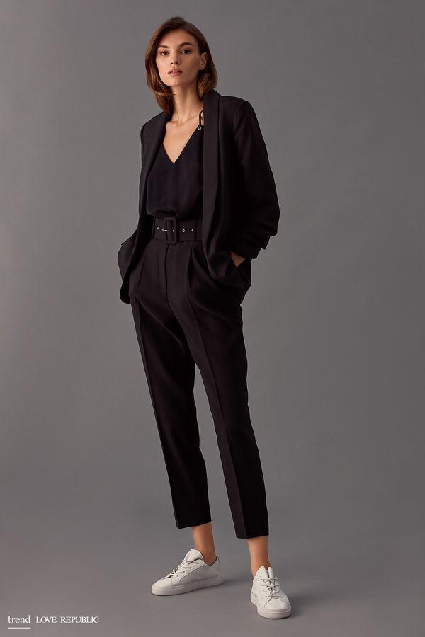 Короткие брюки с широким поясом 9358086729-71