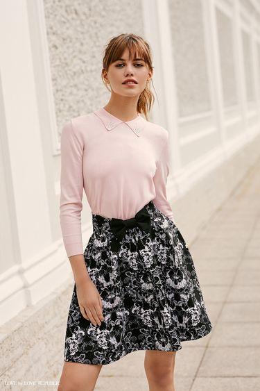 Пышная юбка с цветочным принтом 9358568239