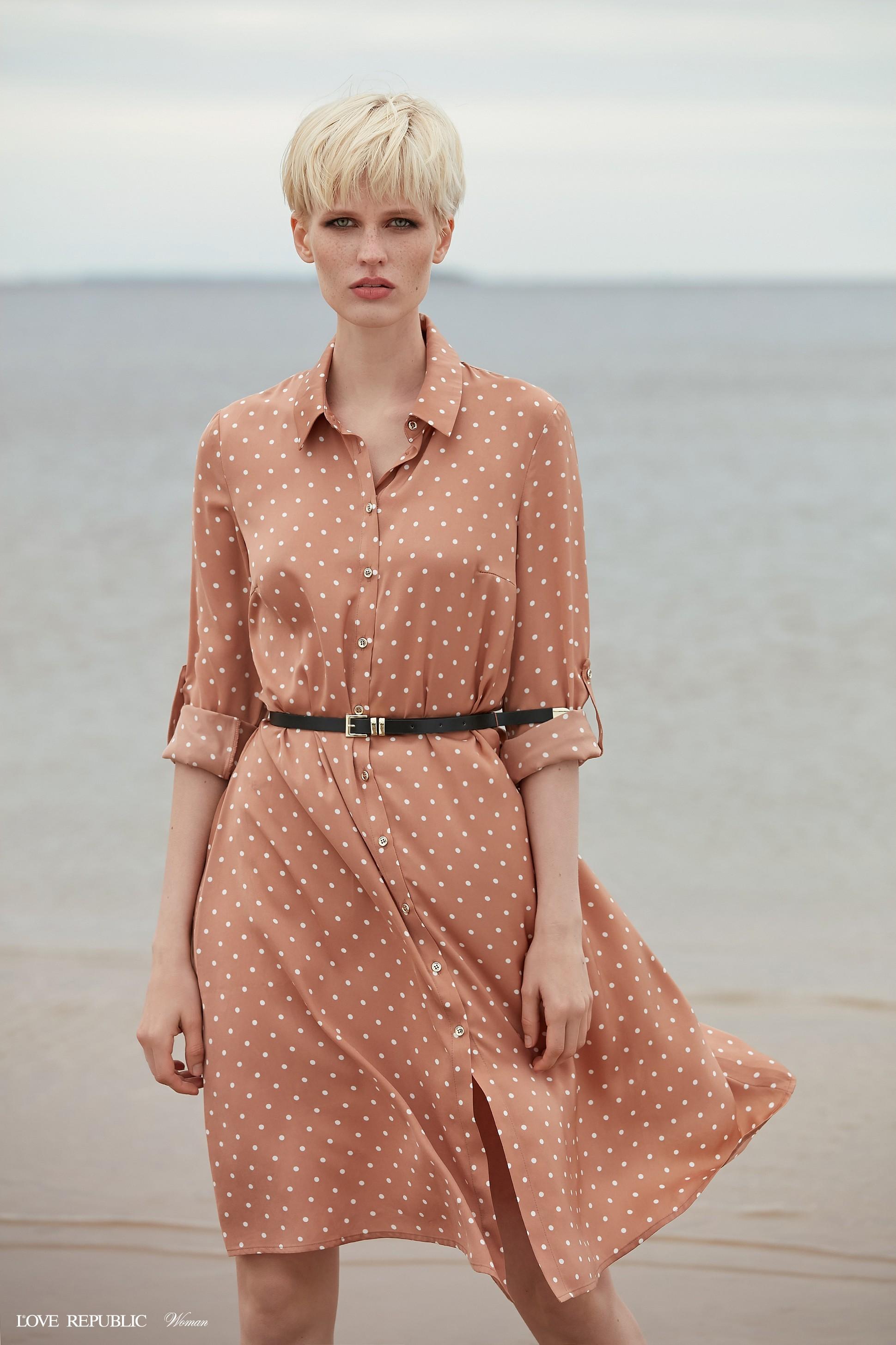 05dcdd9b85606 Платье-рубашка длины миди 9358780539-26 - купить в интернет-магазине ...