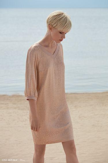 Платье-свитер с разрезом на молнии 9358762535