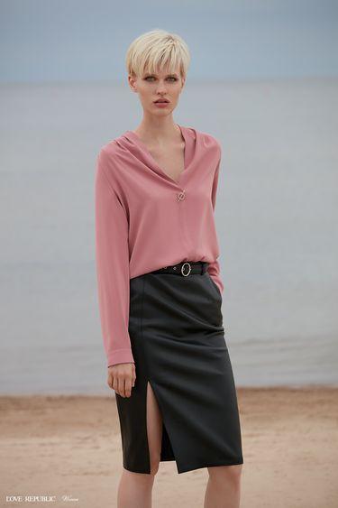Блузка с длинными рукавами и вырезом 9358763344