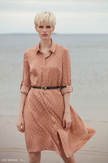 Платье-рубашка длины миди 9358780539