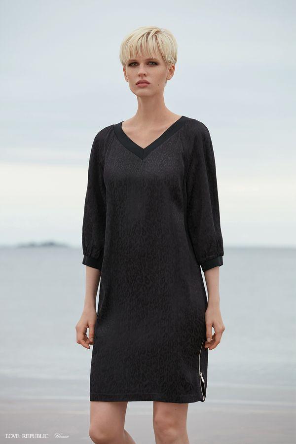 Платье-свитер с разрезом на молнии 9358762535-62