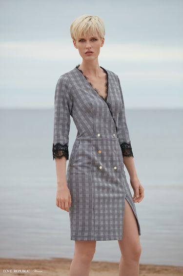 Платье-пиджак в клетку 9358814513