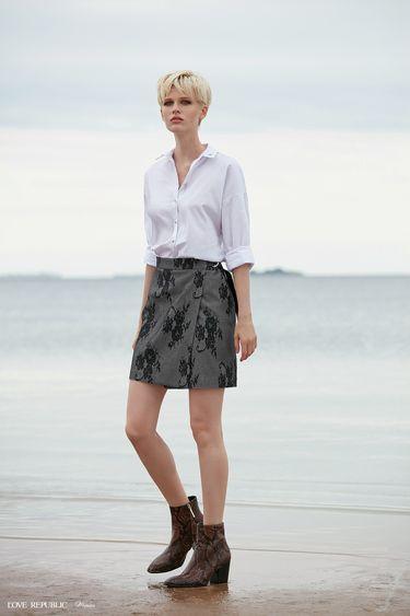 Короткая юбка с цветочным принтом 9358817202