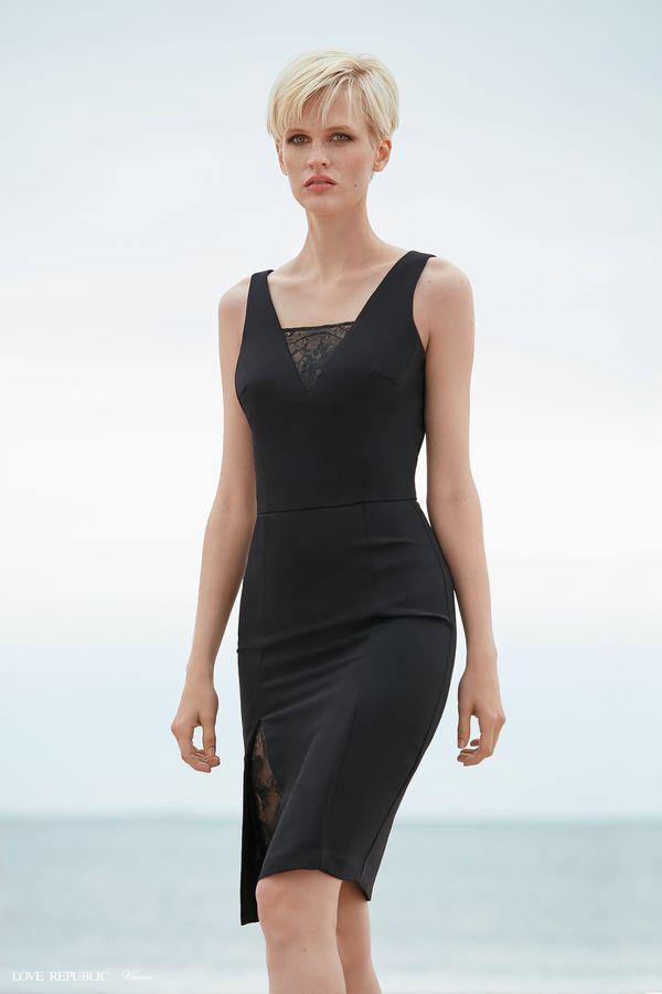 Платье-футляр с кружевом 9358818534-50