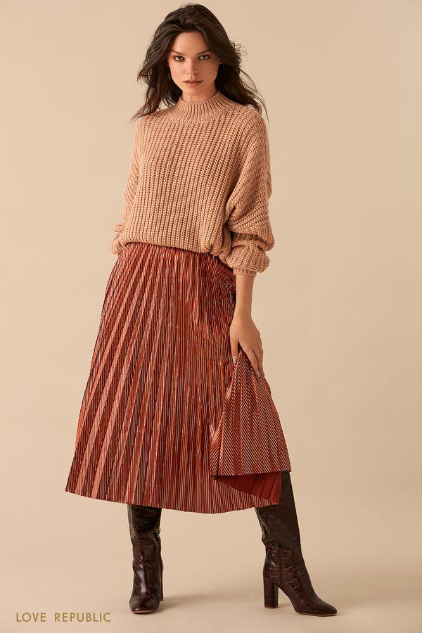 Длинная плиссированная юбка 9359084238-21