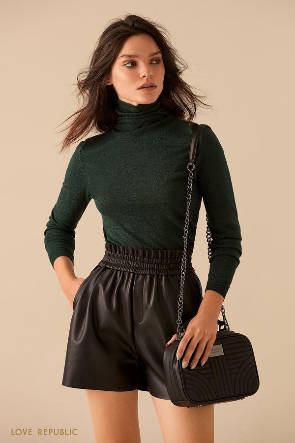 Бордовый свитер из пряжи с люрексом 9359166810-71